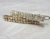 Swarovski Rhinestone Barrette-Delicate Dainty Small Bridal Hair Clip For Weddings/Communion/Sweet sixteen/Flower Girl gift/Bridal Party