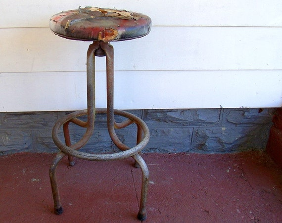 Early Drafters Stool Toledo Style - Vintage Industrial Seat - Ready for Restoration