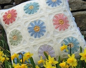 Spring / Summer Flower Crochet Cushion Pattern - PDF - SnuginaDub