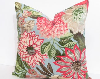 SALE! Ready to Ship! Designer Decorative PILLOW Cover Floral Pattern Handmade in the USA