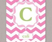 PRINTABLE 8x10 Custom Initial Monogram & Name Poster - PDF digital file