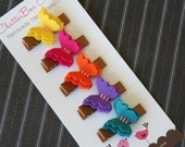 Butterfly Hair Clips Baby Hair Clips Baby Barrettes Toddler Hair Clips Girls Hair Clips Bright Butterflies