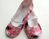 Flannel Womens Mary Jane Slippers - House Shoes - Indoor Shoes - Custom Order - Gift for Her