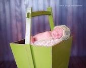 KNIT PATTERN, Drop Stitch Mohair Bonnet Newborn Photography Prop