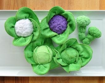Baby Washcloth Cabbage, Cauliflower and Broccoli, WashAgami ™ Instructional Video