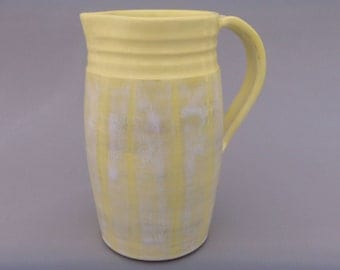 Yellow Ceramic Pitcher - Glazed Terracotta - Homespun Flavor