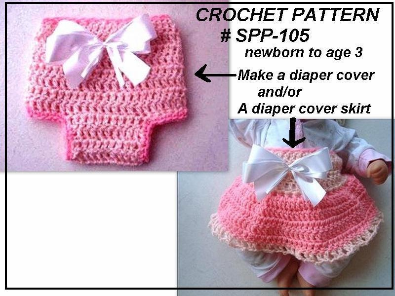 Instant Download PDF Pattern Diaper Cover Skirt Set