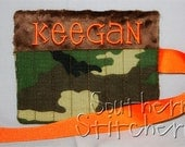 Personalized Crayon Holder Camo Crayon Roll Great for Gifts Flower Girl Ring Bearer Stocking Stuffer