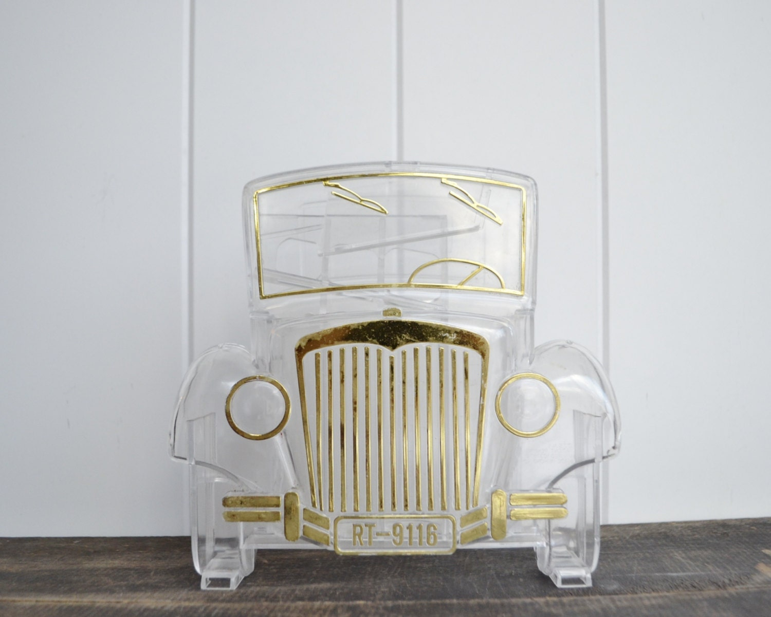 Coin sorter antique car decor clear plastic piggy bank to - Coin sorting piggy bank ...