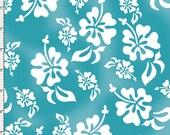 Hawaiian Turquoise Fabric Yard by Loralie