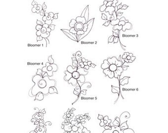 Bloomers Embroidery Design Collection - CD