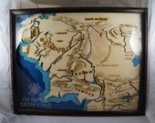 LOTR Topographical Map of Middle Earth