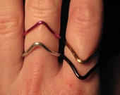 Wire Wrapped Chevron MADE to ORDER Regular or Knuckle size Rings