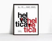 11x14 Inch Suisse Swiss Helvetica Type Specimen Poster, Color: White