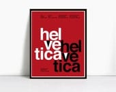 16x20 Inch Gicleè Suisse Swiss Helvetica Type Specimen Poster. Color: Red