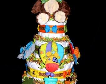 Special Order Jungle Diaper Cake