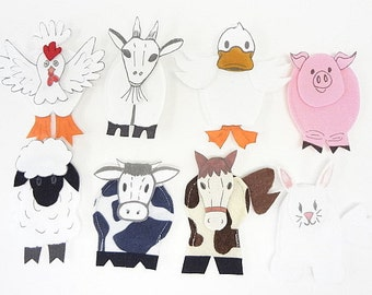 Finger Puppets Farm Animals back to school teachers aid clearance sale was 29.95