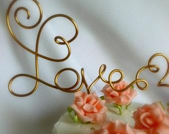Fall Wedding Cake Topper, Rustic Decorations, Decor, Love