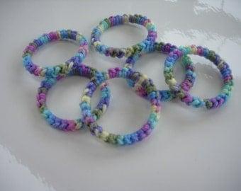 Crochet Ring Cat Toys- PASTEL Set of 6