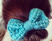 B1G1 FREE SALE Custom Crochet Big Bow with Accessory of Your Choice and Many Colors Available