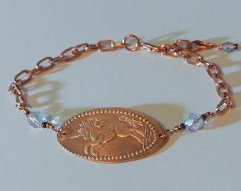 Unicorn Copper Penny Bracelet