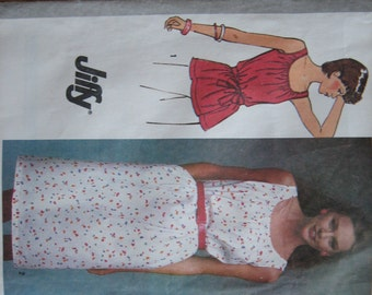Simplicity Pattern 9556 Misses' Jiffy Pullover Dress Or Top  1980  Uncut