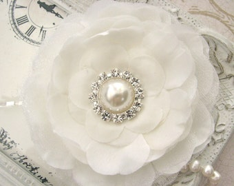 Ivory Wedding Hair Pin,  Bridal Hair Pin, Hair Accessories for Bride, Bridal Hair Accessories, Wedding Fascinator, Bridesmaid Hair Pin