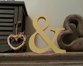 Freestanding Wooden Letter '&' - Georgian Style - 25cm