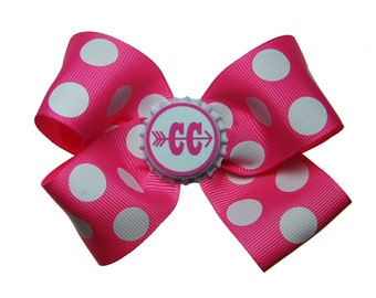 Cross Country Runner Running Hair Bow in Hot Pink