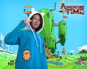 Kawaii Adventure Time Finn and Jake Woman/Men Hoodie - Cosplay, wear for fun, fashion, kawaii, photo shoot