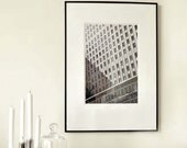 """Large Black and White Photography - New York City - Modern Graphic - Building Shadows - 30cmx45cm / 12""""x18"""" (Can also be custom size)"""