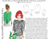 HP 1152 Fast & Fabulous Origami Knit Top