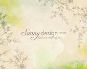 Etsy Banner Set -Watercolor  Vintage Flower Etsy Shop Banner