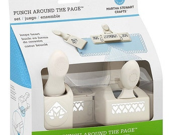 LOOPS HEART Punch Around The Page - 2 Piece Punch Set by Martha Stewart