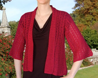 Easy Lace Jacket to Crochet PDF Pattern Instant Download