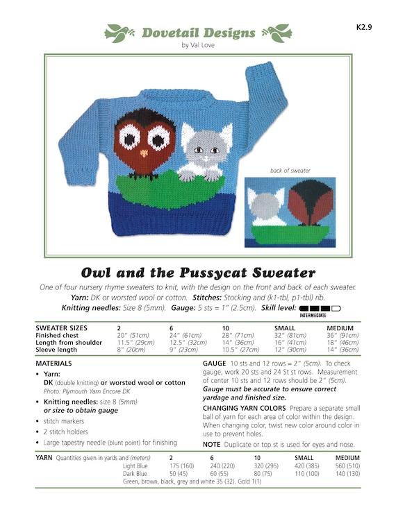Knitting Sweater Design Book Pdf : Owl sweater knitting pattern pdf full zip