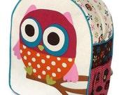 Girls Backpack, Toddler Backpack, Preschool Backpack, Owl Backpack, Book Bag, Tote Bag, Diaper Bag