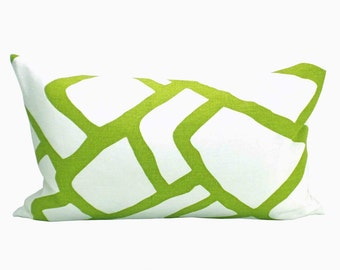 Zimba lumbar pillow cover in Soft Chartreuse