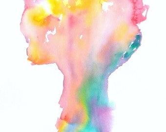 Watercolor Prints, Watercolors, Art, Tree, Trees, Colorful Tree Painting