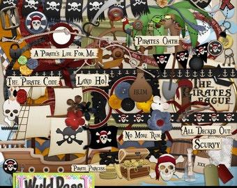 "Pirates of the Carribean Digital Scrapbooking Kit ""A Pirate Code"" Bundled kit"