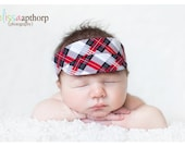 SpRiNg ClEaNiNg SaLe Newborn Visor Boy Photo Prop Red Grey Black and White Plaid