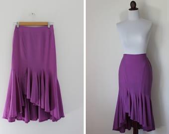 Vintage Violet Trumpet Flower Skirt