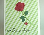 Mothers Day Card - Rose Flower
