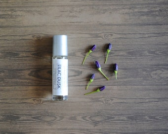 Lilac Dusk Perfume Oil, Roll On Perfume Floral Earthy Fragrance Vegan