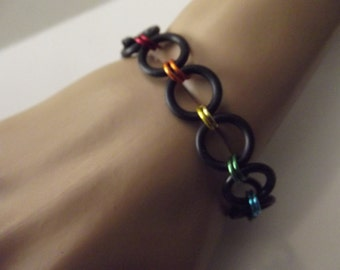 Simple 2-1 Stretch Chainmaille Bracelet