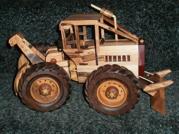 Wooden Toy Log Skidder : Deluxe log skidder handcrafted wooden by wisconsinwoodchuck