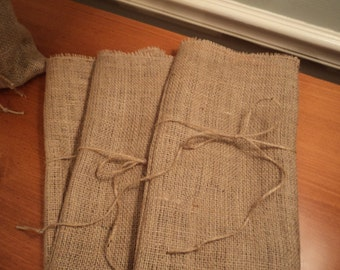 Burlap Wine Bag Hostess Gift Wedding Favor