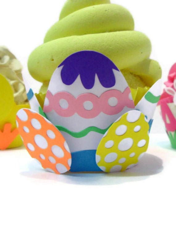 Easter Egg Cupcake Wrapper - Set of 12