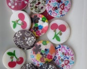 Buttons Flowers Hearts Cherries Retro Sampler (49)