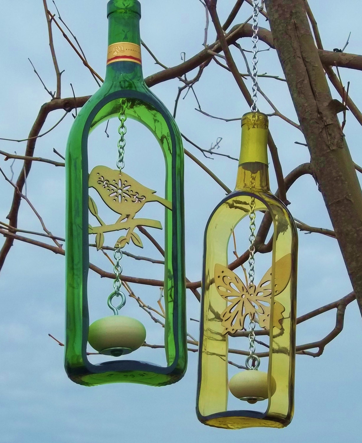 What To Make With Wine Bottles: Limited Edition 1.5 Liter Wine Bottle Wind By GroovyGreenGlass